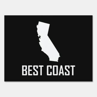 West Coast Best California White Sign