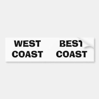 WEST COAST, BEST COAST BUMPER STICKER