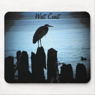 West Coast moonlit bird Mouse Pads