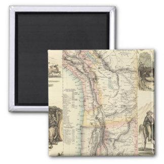West Coast of South America Fridge Magnet