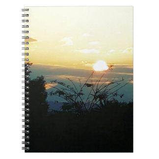 west coast sunset spiral notebooks