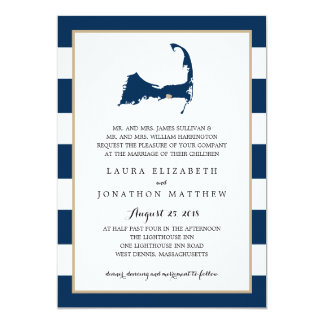 West Dennis Cape Cod Map with heart | Wedding Card