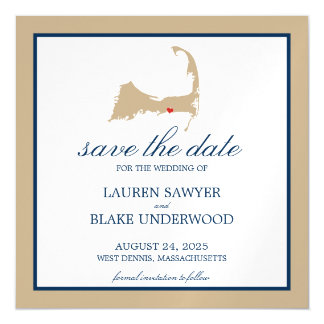 West Dennis Cape Cod Wedding Save the Date Magnetic Invitations