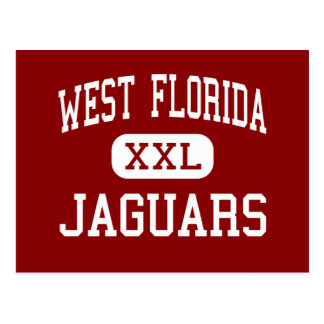 West Florida - jaguars - High - Pensacola Florida Postcard