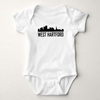 West Hartford Connecticut City Skyline Baby Bodysuit