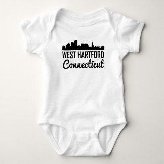 West Hartford Connecticut Skyline Baby Bodysuit