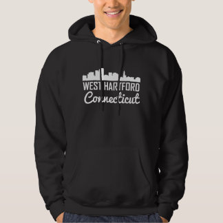 West Hartford Connecticut Skyline Hoodie