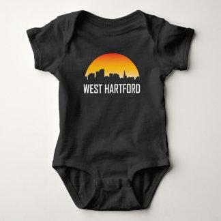 West Hartford Connecticut Sunset Skyline Baby Bodysuit