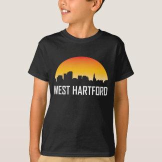 West Hartford Connecticut Sunset Skyline T-Shirt