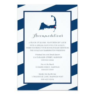 West Harwich Cape Cod Navy Blue | Accommodations Card