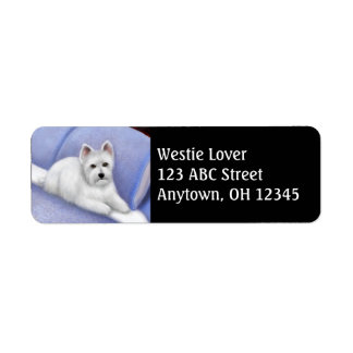 West Highland Terrier Address Label