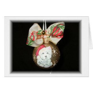 West Highland Terrier Christmas Card
