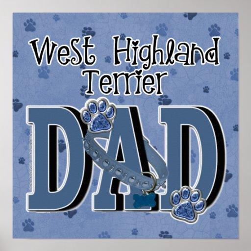 West Highland Terrier DAD Poster