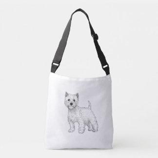 West Highland Terrier Dog Bag, Double Sided Crossbody Bag
