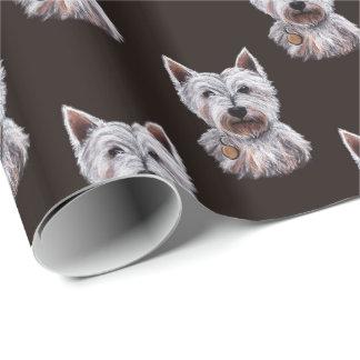 West Highland Terrier Dog Illustration Patterned