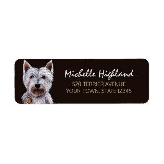 West Highland Terrier Dog Pastel Illustration