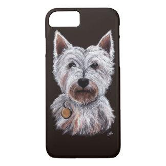 West Highland Terrier Dog Pastel Pet Illustration iPhone 8/7 Case