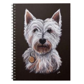West Highland Terrier Dog Pastel Pet Illustration Note Book