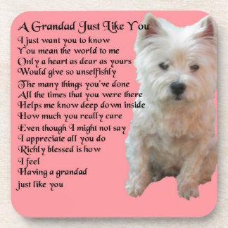 west Highland Terrier  Grandad Poem Coaster