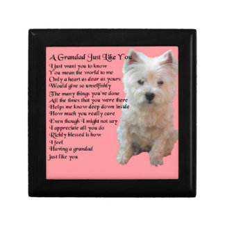 west Highland Terrier  Grandad Poem Gift Box