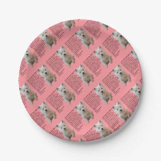 west Highland Terrier  Grandad Poem Paper Plate