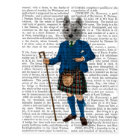 West Highland Terrier in Kilt 3 Postcard