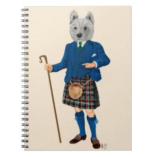 West Highland Terrier in Kilt Note Books