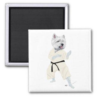 West Highland Terrier KARATE ! Magnet