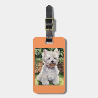 West Highland Terrier luggage and purse tag