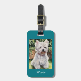 West Highland Terrier luggage or purse tag