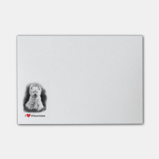West Highland Terrier Puppy Dog Love Post-it Notes