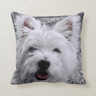 West Highland Terrier Selective Color Pillow