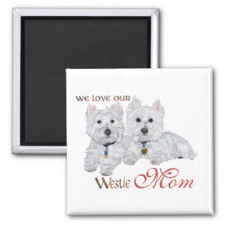 West Highland Terriers Mother's Day Square Magnet