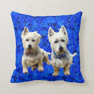 West Highland Terriers Throw Pillow. Throw Pillow