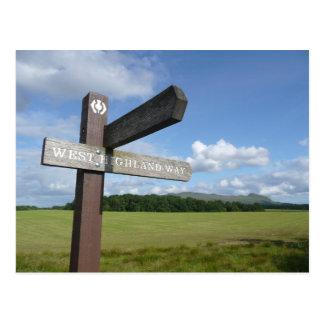 West Highland Way Sign Postcard