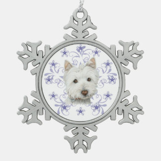 West Highland White Dog Snowflake Ornament