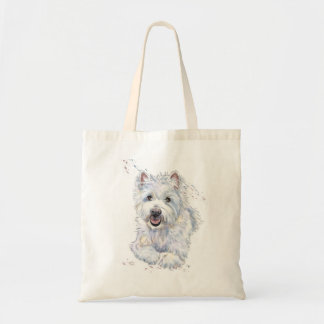 West Highland White shopping tote bag, Westie dog