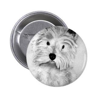 West Highland White Terrier 2 Inch Round Button