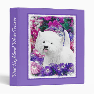West Highland White Terrier 3 Ring Binder