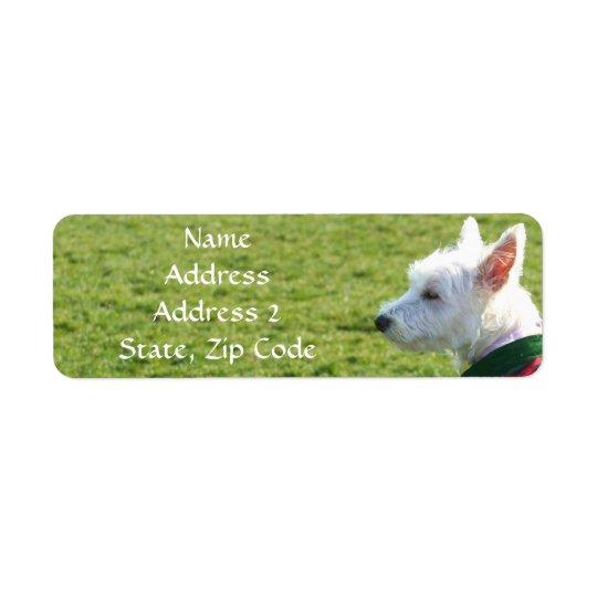 West Highland White Terrier Address Labels