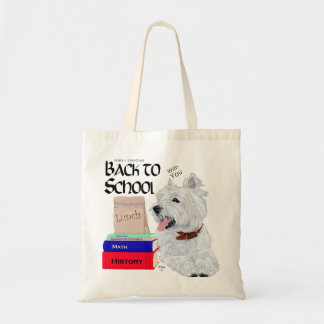 West Highland White Terrier Back to School Tote Bag