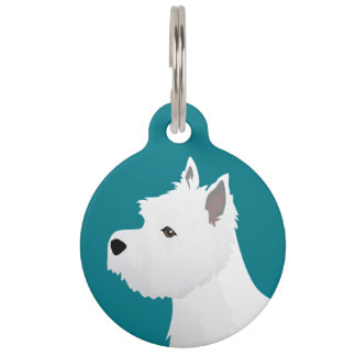 West Highland White Terrier Basic Breed Design Pet Tag