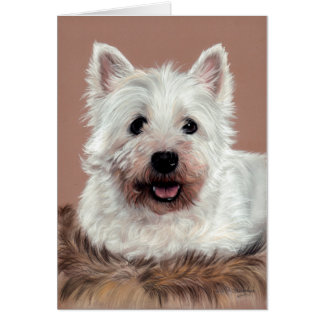 West Highland White Terrier Card