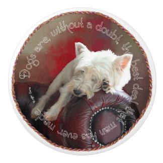 West Highland White Terrier Ceramic Knob