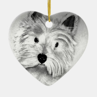 West Highland White Terrier Ceramic Ornament