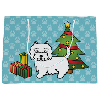 West Highland White Terrier Christmas Large Gift Bag