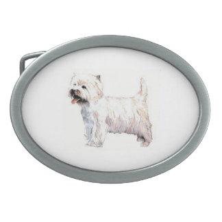West Highland White Terrier Dog Belt Buckle