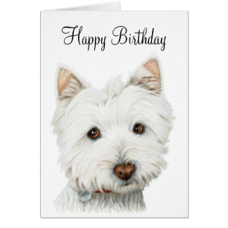 West Highland White Terrier Dog Card