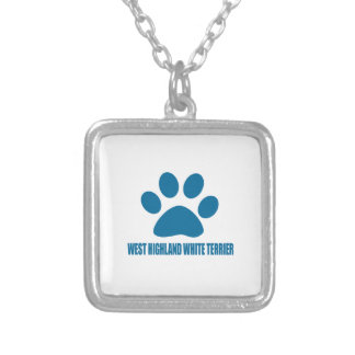 WEST HIGHLAND WHITE TERRIER DOG DESIGNS SILVER PLATED NECKLACE