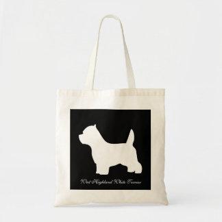 West Highland White Terrier dog, westie silhouette